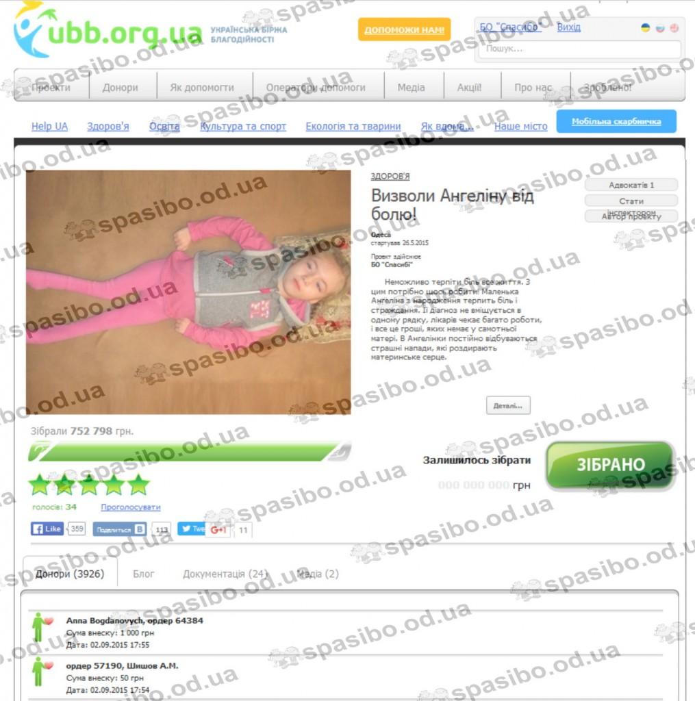 УББ скрин проекта на сайте