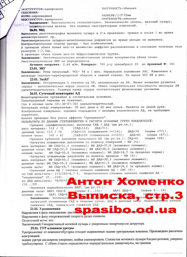 1. Выписной эпикриз из Белоруссии Хоменко Антона. СТР.3
