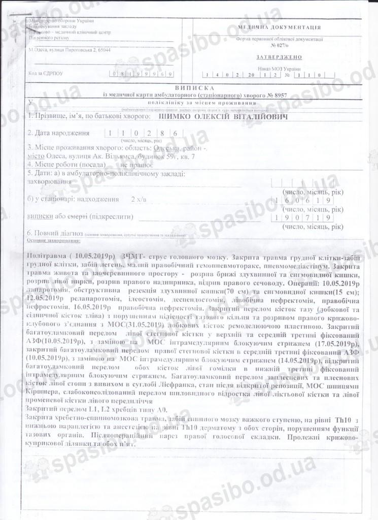 Выписка из военного госпиталя (1)