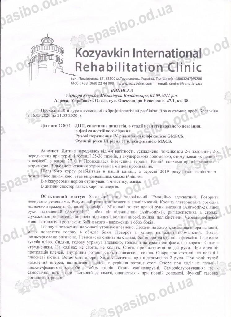 Выписка Козявкина 1